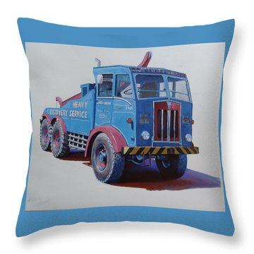 Throw Pillow featuring the painting Aec Militant Lloyds by Mike Jeffries