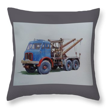 Throw Pillow featuring the painting Aec Militant Wrecker. by Mike Jeffries