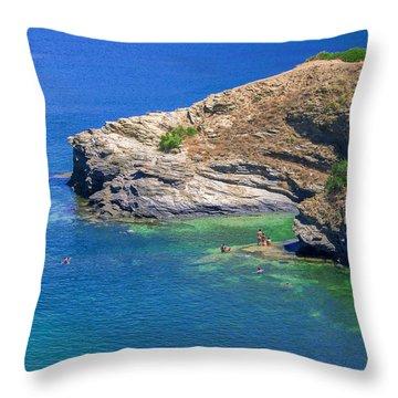 Aegean Coast In Bali Throw Pillow