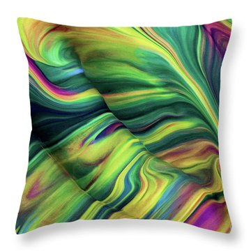 Aegean Wave Throw Pillow