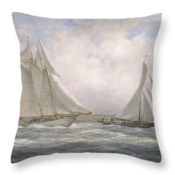 Aello Beta And Marigold Off The Isle Of Wight Throw Pillow
