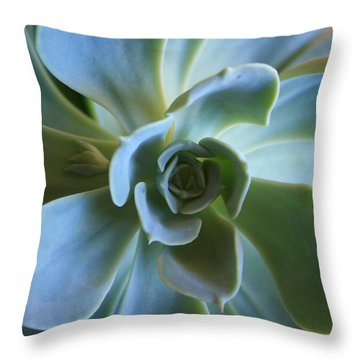 Aeonium Throw Pillow by Marna Edwards Flavell