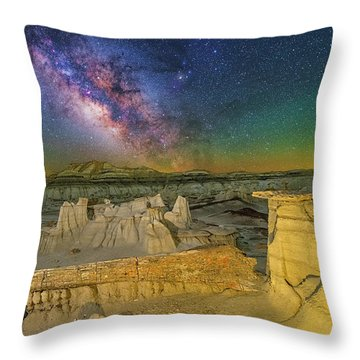 Aeons Of Time Throw Pillow