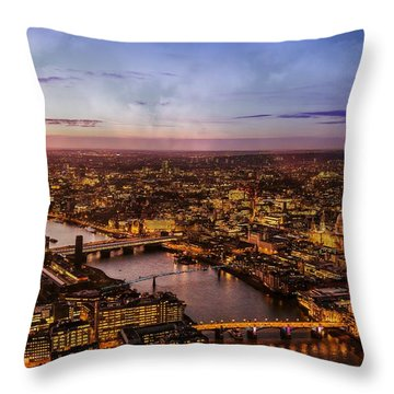 Aereal City Throw Pillow