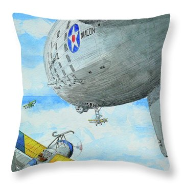 Aerial Ballet Throw Pillow