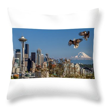 Throw Pillow featuring the photograph Aerial Battle by Rob Green