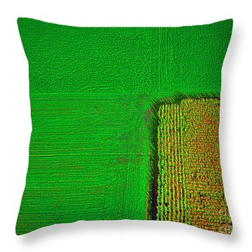 Aerial Farm Mchenry Il  Throw Pillow by Tom Jelen