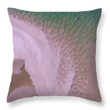 Throw Pillow featuring the photograph Aerial Image Of Noosa River Fine Details by Keiran Lusk
