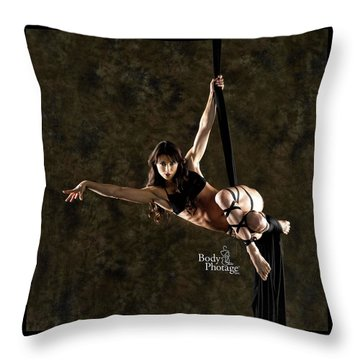 Aerial Ninja Throw Pillow