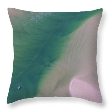Throw Pillow featuring the photograph Aerial Photo Of Noosa River In Detail by Keiran Lusk