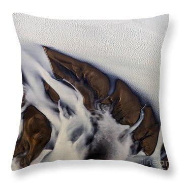 Aerial Photo Thjosa Iceland Throw Pillow