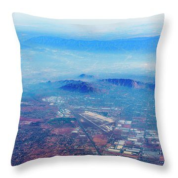 Aerial Usa. Los Angeles, California Throw Pillow by Alex Potemkin