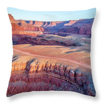 aerial view of Colorado RIver canyon Throw Pillow