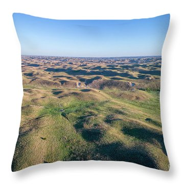 aerial view of Nebraska Sand Hills  Throw Pillow
