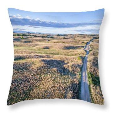 aerial view of Nebraska Sandhills  Throw Pillow