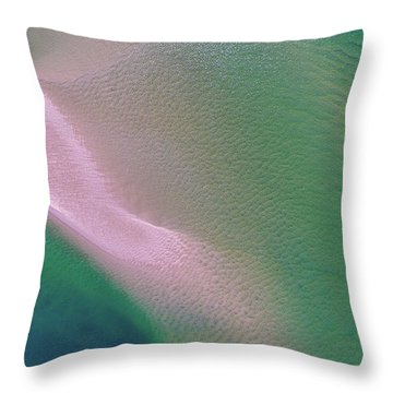Throw Pillow featuring the photograph Aerial View Of Noosa River by Keiran Lusk