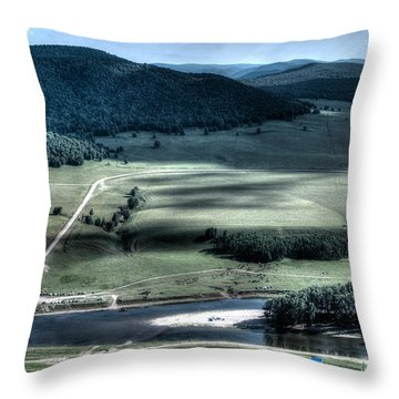 Aerial View Of Rolling Russian Hills Throw Pillow