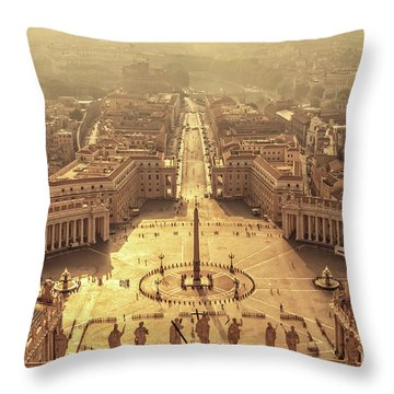 Aerial View Of St Peter's Square Throw Pillow