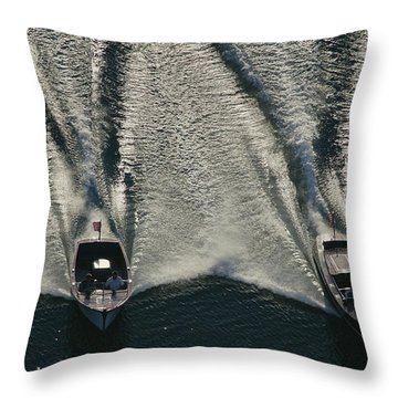 Aerial Wash Throw Pillow
