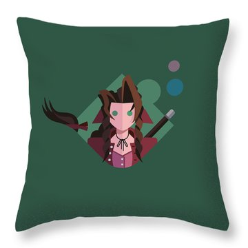 Aeris Throw Pillow by Michael Myers