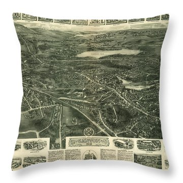 Aero View Of Canton, Mass Throw Pillow
