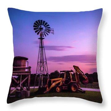 Aeromotor Windmill Throw Pillow