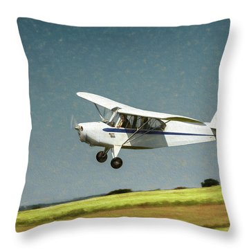 Throw Pillow featuring the photograph Aeronca 7a C by James Barber