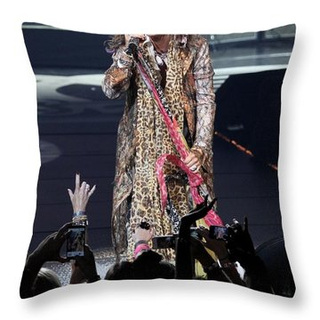 Aerosmith Singer Steven Tyler Throw Pillow