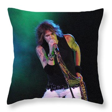 Aerosmith - Steven Tyler -dsc00138 Throw Pillow by Gary Gingrich Galleries