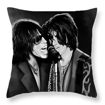 Aerosmith Toxic Twins Mixed Media Throw Pillow by Paul Meijering
