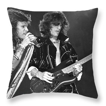 Aerosmith Tyler And Perry Throw Pillow