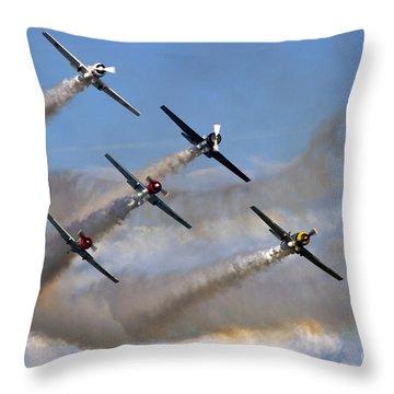 Aerostars Throw Pillow