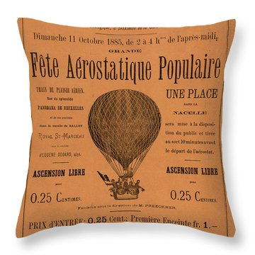 Aerostatique Populaire Throw Pillow