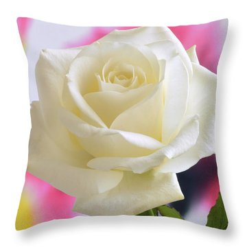 Aesthetic Rose. Throw Pillow