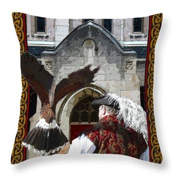 The Falconer Throw Pillow