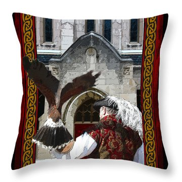 The Falconer Throw Pillow by Susan Vineyard