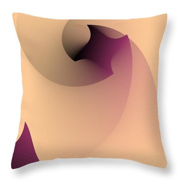 Throw Pillow featuring the digital art Affect by Leo Symon