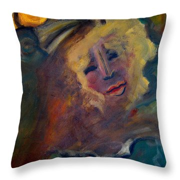 Affection Of Raven Throw Pillow