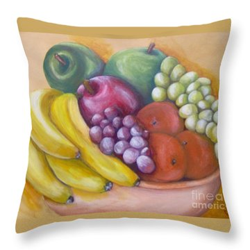 Throw Pillow featuring the painting Affluent by Saundra Johnson