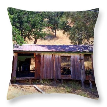 Cozy Cottage Kern County Throw Pillow