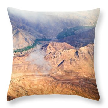 Afghan Valley At Sunrise Throw Pillow