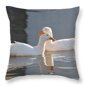 Aflac Ducks ?? Throw Pillow by Dan Williams