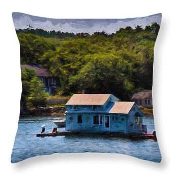 Afloat Throw Pillow by Tricia Marchlik
