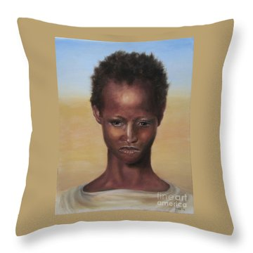 Throw Pillow featuring the painting Africa by Annemeet Hasidi- van der Leij