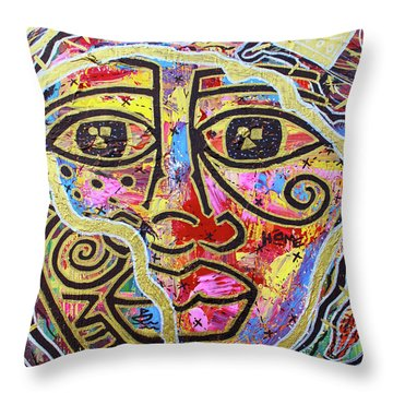Africa Center Of The World Throw Pillow