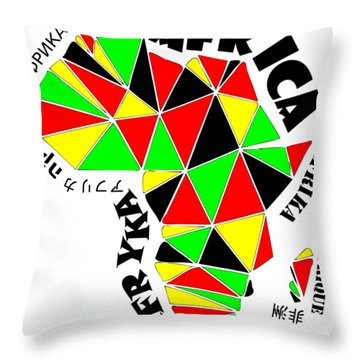 Africa Continent Throw Pillow