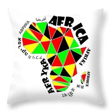 Africa Continent Throw Pillow