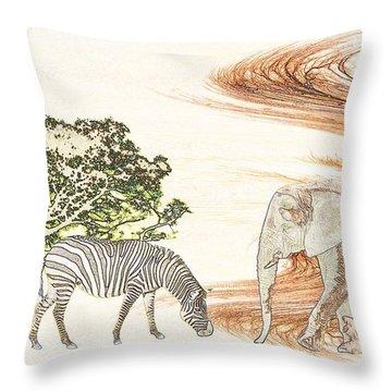 Africa Throw Pillow by Sharon Lisa Clarke