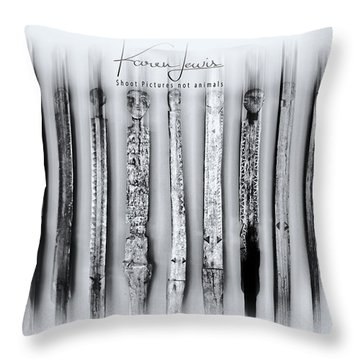 Throw Pillow featuring the photograph African Artefacts by Karen Lewis