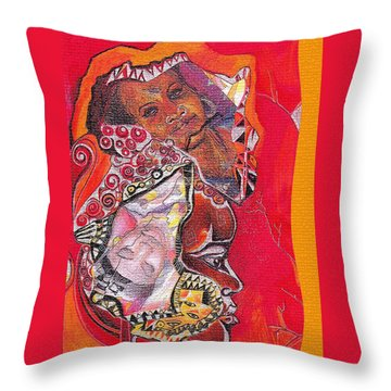 African Crown Throw Pillow